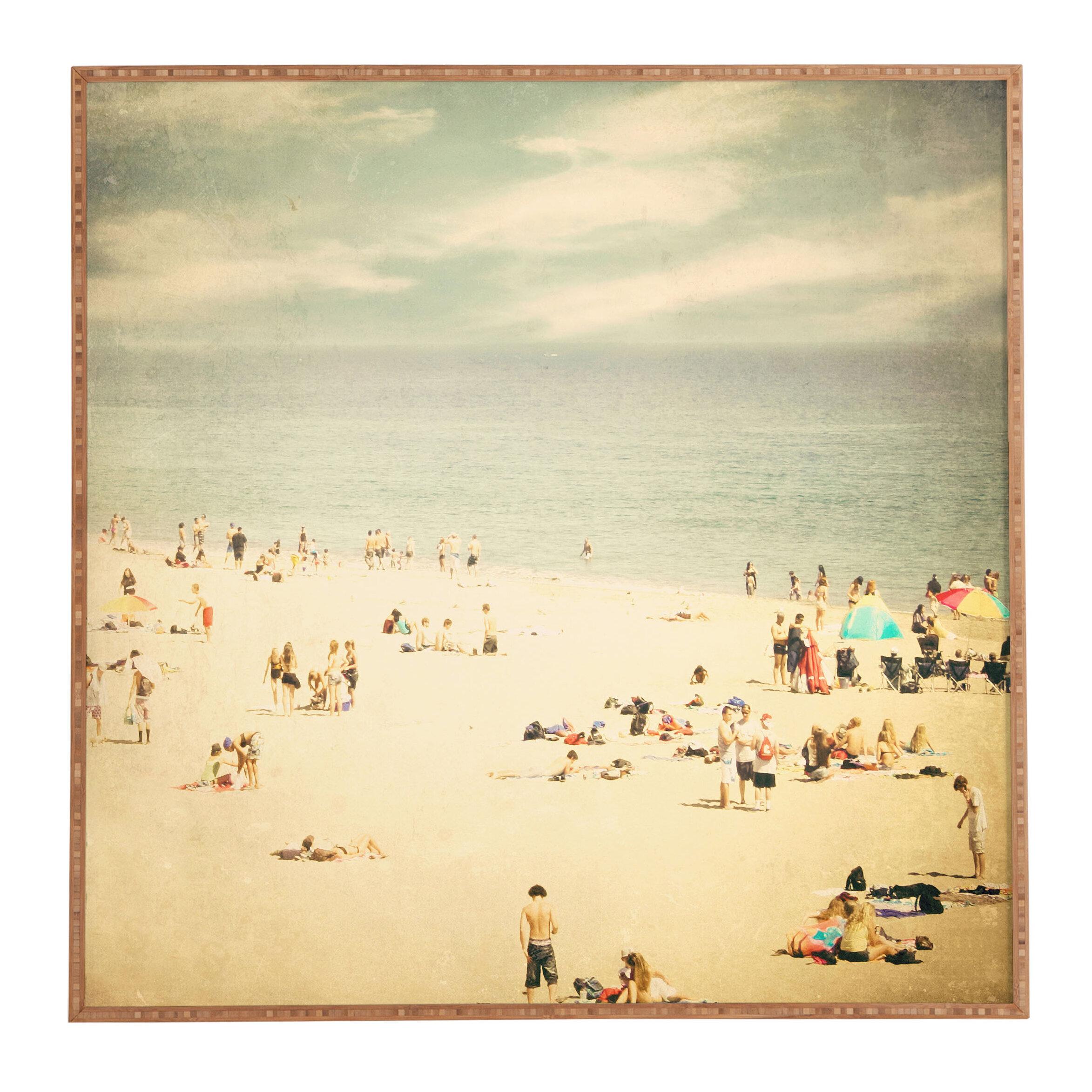 Vintage Beach Framed Photographic Print Plaque & Reviews | AllModern