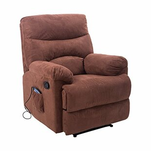 Suede Heated Massage Chair With Remote