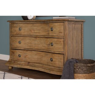 Dunwich Curved Chest Of 3 Drawers Dresser