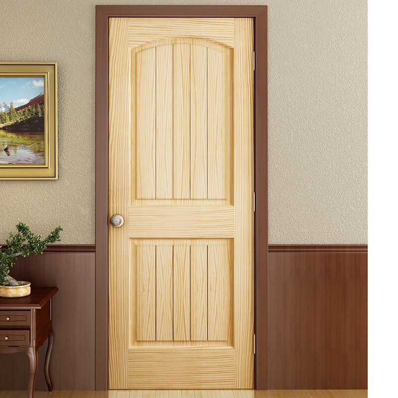 Kiby Colonial 2 Panel Solid Pine Slab Interior Door Reviews Wayfair
