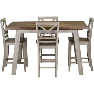 Crum 5 Piece Counter Height Dining Set