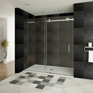 Ultra B 60u0027u0027 X 76u0027u0027 Single Sliding Shower Door