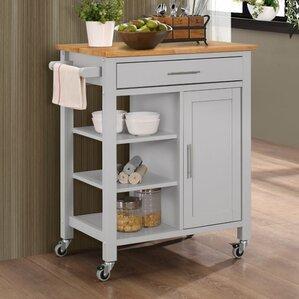 Newfane Kitchen Cart by Three Posts