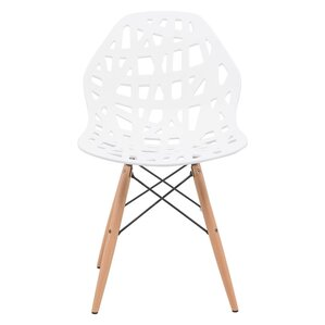 Akron Solid Wood Dining Chair by LeisureMod