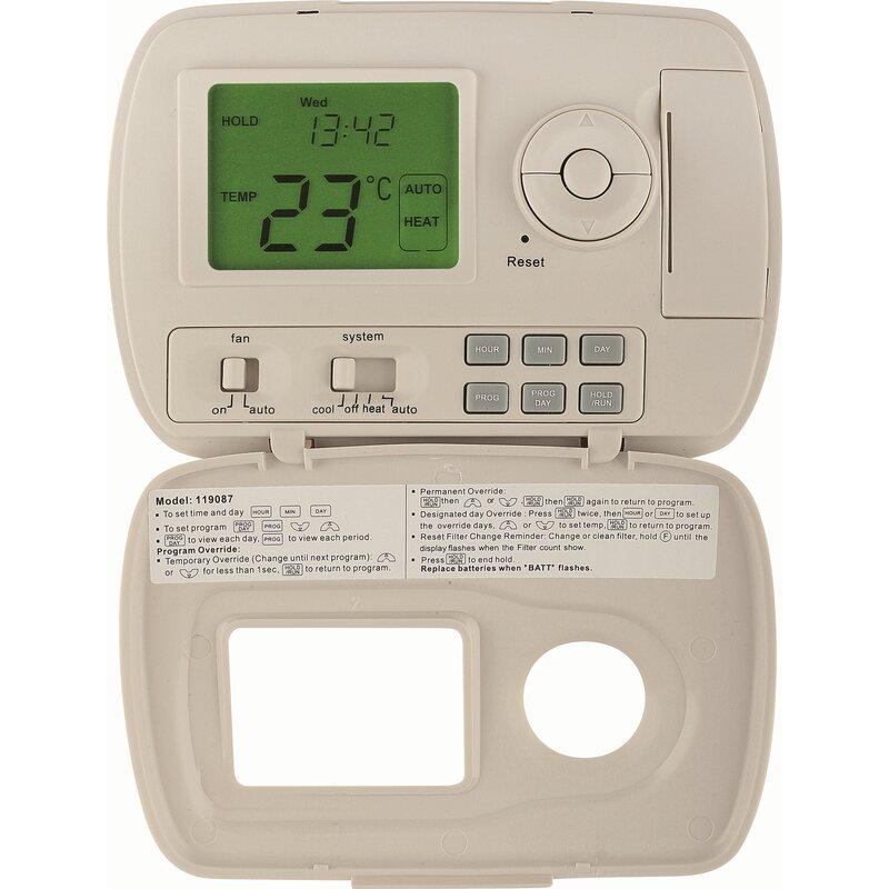 garrison garrison digital thermostat wayfair rh wayfair com Wiring Thermostat Electric Baseboard Heaters Electric Baseboard Heaters 220 Volt Wiring with Romex