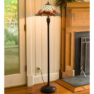 Stain glass floor lamps wayfair chesterfield tiffany style stained glass 605 floor lamp mozeypictures Gallery