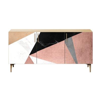 Brayden Studio Lovett Sideboard Color (Base/Top): Brass/Natural