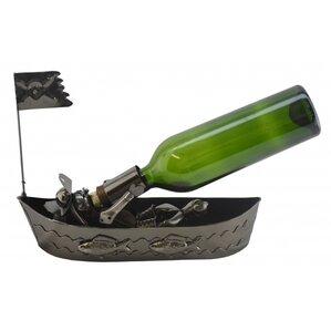 Pirate In Boat 1 Bottle Tabletop Wine Rac..