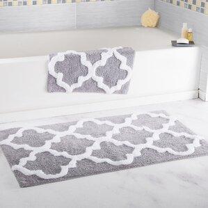 bathroom rug sets. 2 Piece Cotton Trellis Bath Rug Set Sets You ll Love  Wayfair