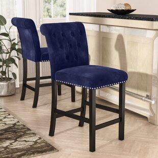 navy blue bar stools Royal Blue Velvet Bar Stools | Wayfair navy blue bar stools