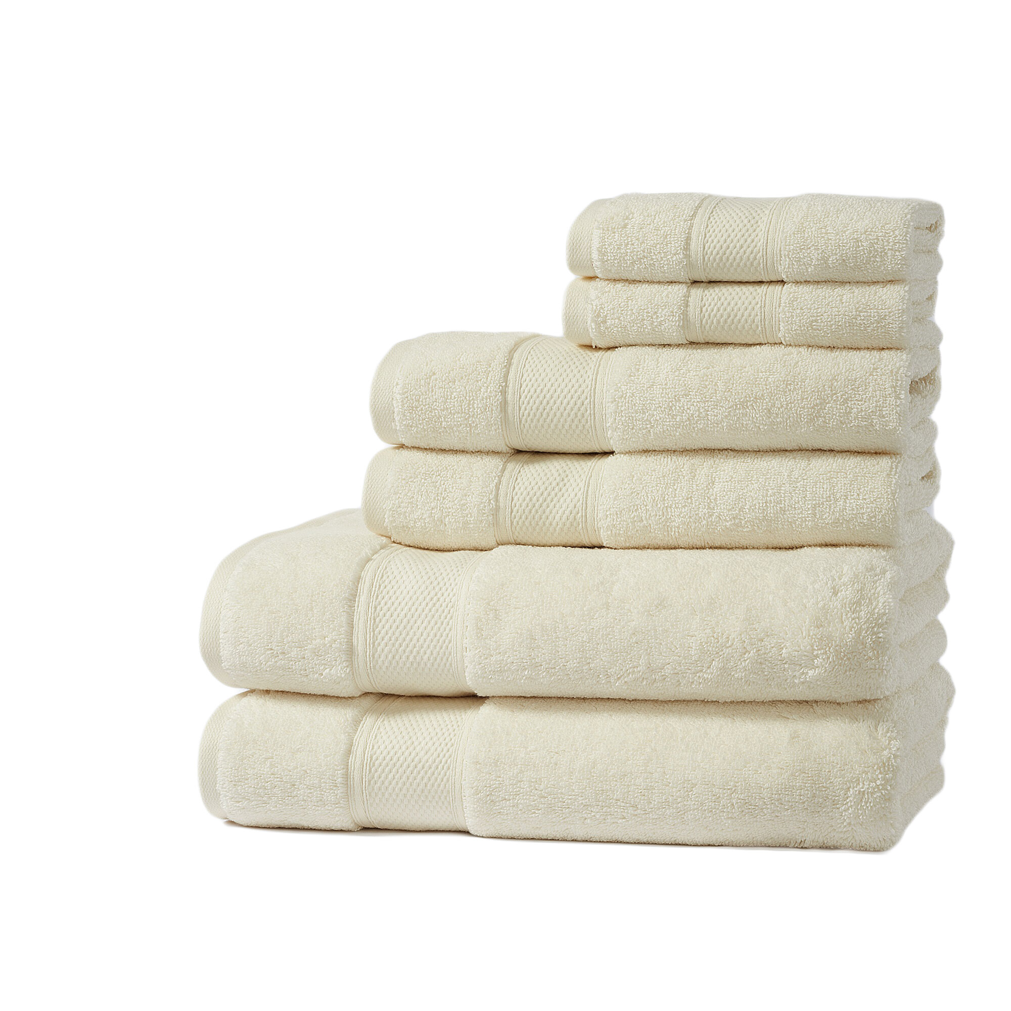 Home Fashion Designs Santorini Luxury 6 Piece Turkish Cotton Towel