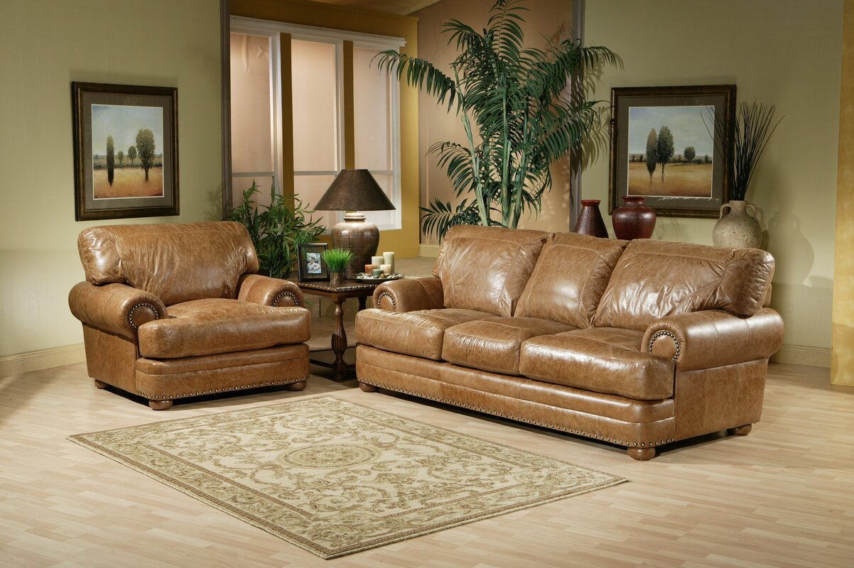 Houston Leather Configurable Living Room Set