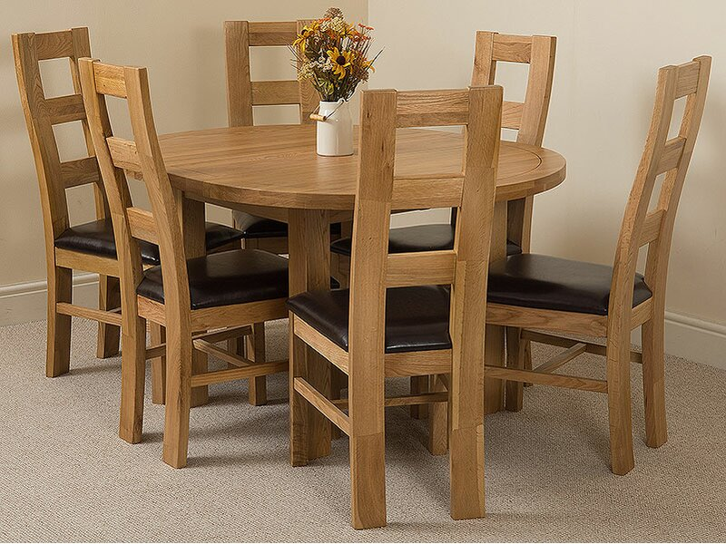 Pleasant Soejima Solid Oak Dining Set With 6 Yale Chairs Download Free Architecture Designs Embacsunscenecom