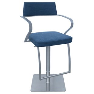 Willette Adjustable Height Swivel Bar Stool