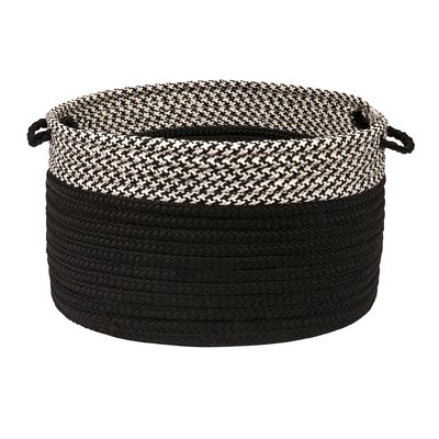 Brayden Studio Ariadne Dipped Basket Size: 10 H x 14 W x 14 D, Color: Black