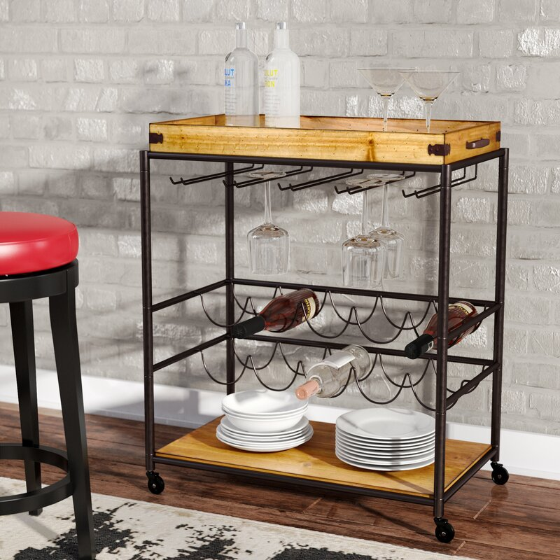 Laminate Puter Small Bar For Living Room Home Portable Kahnah Bar Cart