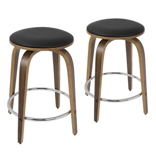 Modern Contemporary Set Of 2 Bar Stools 24 Inches Allmodern