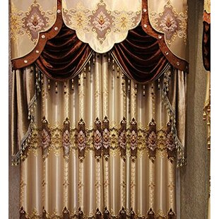 European Nature Floral Blackout Single Curtain Panel