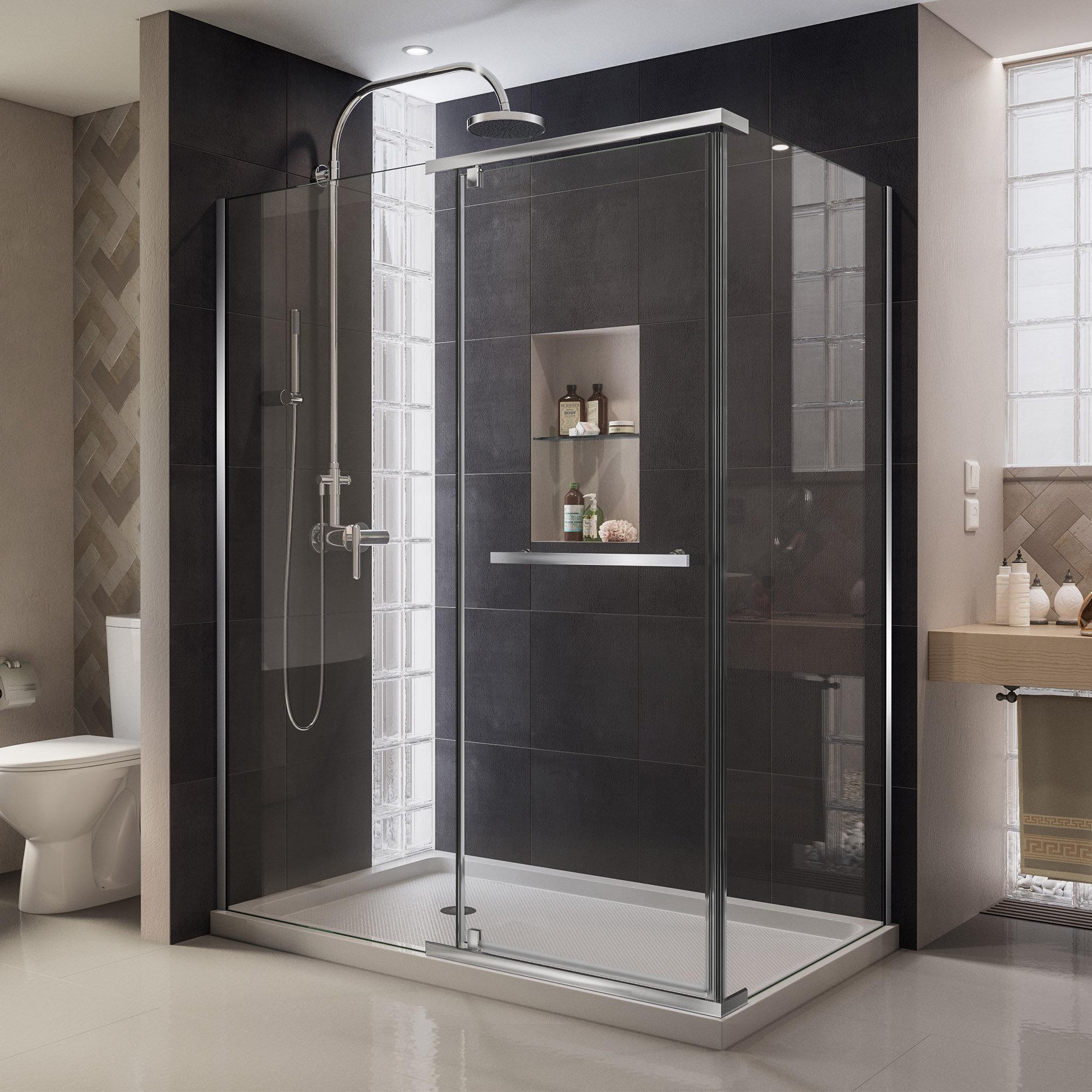 Dreamline Quatra 463 W X 72 H Pivot Frameless Shower Door With