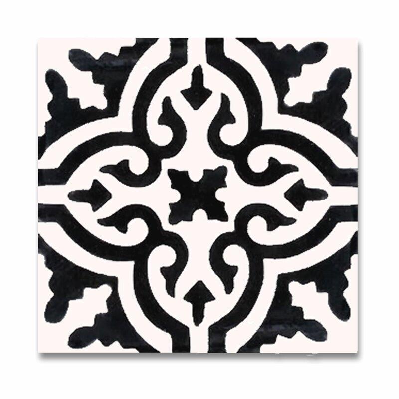 Moroccan Mosaic Tile House Argana 8 X 8 Handmade Cement Tile In