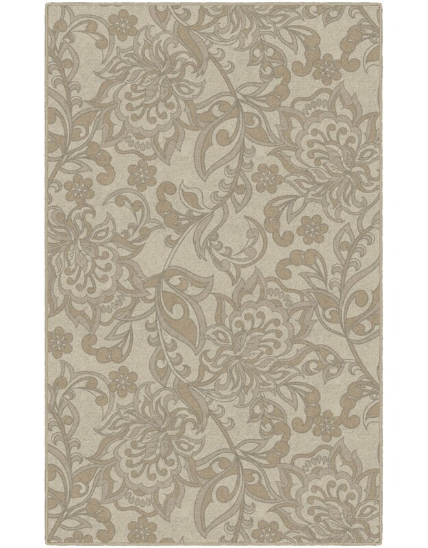 Winston Porter Jaquelin Traditional Jacobean Floral Yellow Area Rug, Size: Rectangle 76 x 10