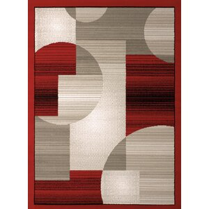 Jerome Red/Gray Area Rug