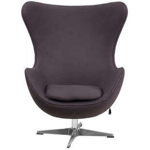 Modern Contemporary Chairs Allmodern - Curves-button-back-chair-in-chocolate-brown-and-green