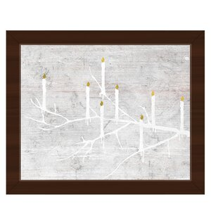 'Candle Tree Night' Framed Graphic Art