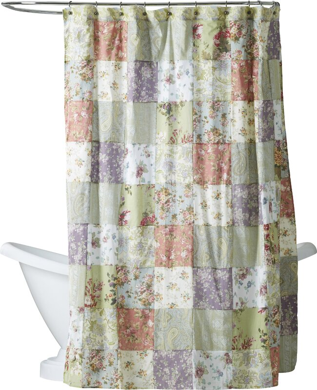 purple and grey shower curtain. Bauer Patchword Cotton Shower Curtain Purple Curtains You ll Love  Wayfair