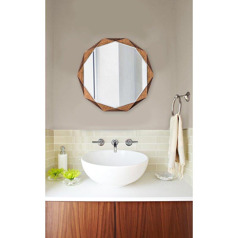 Brayden Studio Faceted Panels Wall Mirror Wayfair