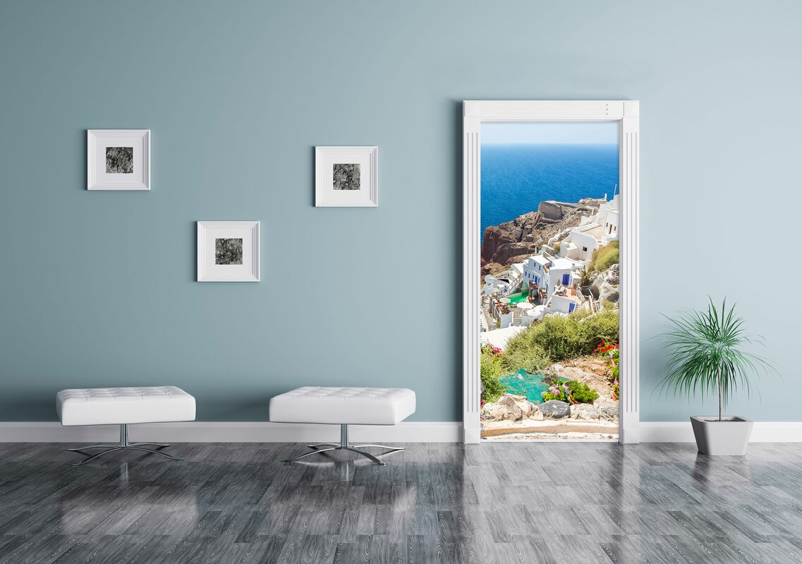 Pixxprint t raufkleber griechische k ste bewertungen for Griechische wohnideen