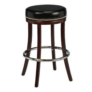Amoroso Beechwood Backless Bar Stool with Head Nail Trim by Red Barrel Studio