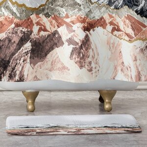 Mountains I Bath Rug