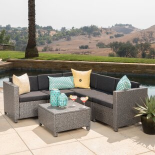 Great choice Furst 6 Piece Sectional Set with Cushions Wade Logan