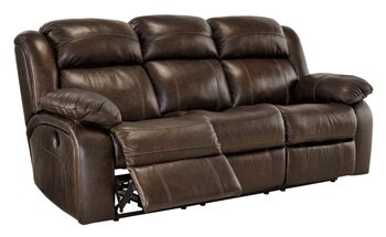 Charming Branton Genuine Leather Reclining Sofa