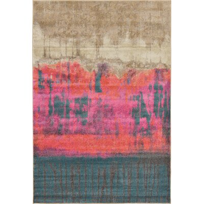 Wrought Studio Wynn Traditional Pink Area Rug Rug Size: Rectangle 6' x 9'