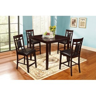 Delphos 5 Piece Counter Height Dining Set 2019 Sale