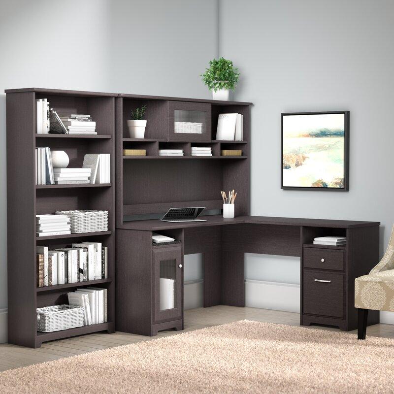 Red Barrel Studio Toledo L-Shaped Executive Desk Office Suite ...