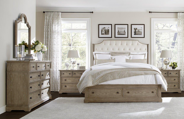 stanley wethersfield estate upholstered customizable bedroom set  - defaultname