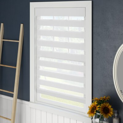 Symple Stuff Sheer Roll-Up Shade Blind Size: 32 W x 72 L, Blind Color: White
