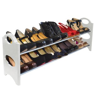 2-Tier 10 Pair Shoe Rack