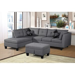 sectional sofa with ottoman gray sectional couch you u0027ll love wayfair