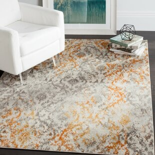 Loretta Grey Orange Area Rug