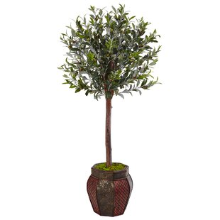 Artificial Olive Tree Topiary In Planter