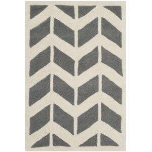 Wilkin Dark Grey / Ivory Moroccan Area Rug