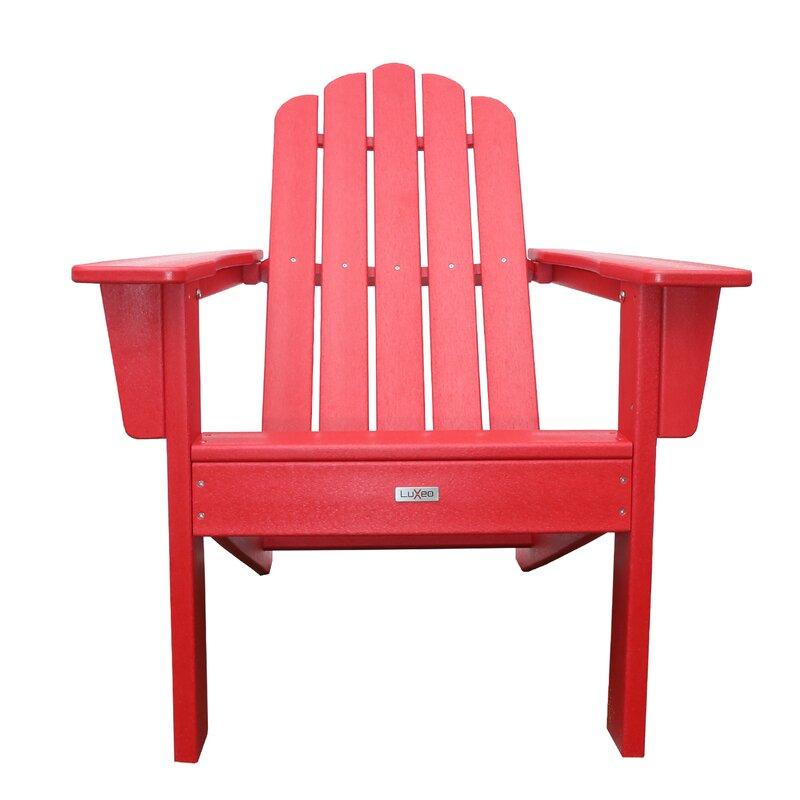 Pecoraro Patio Plastic Adirondack Chair