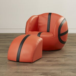 Dylan Upholstered Kids Novelty Chair and Ottoman by Zoomie Kids