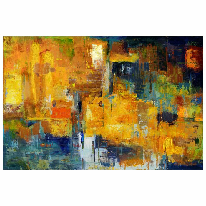 Mercury Row Wall Décor Sunset Painting Print on Wrapped Canvas ...
