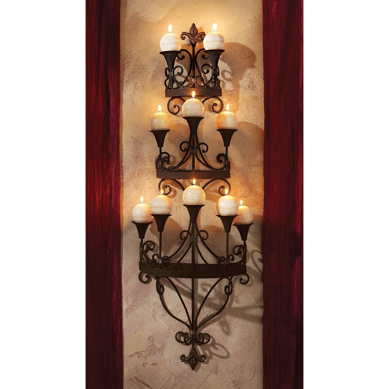 Candle sconces youll love wayfair carbonne candle chandelier wall sconce mozeypictures Images