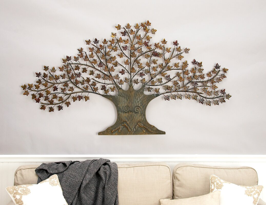 Metal Tree Wall Decor Cole & Grey Metal Tree Wall Decor & Reviews  Wayfair